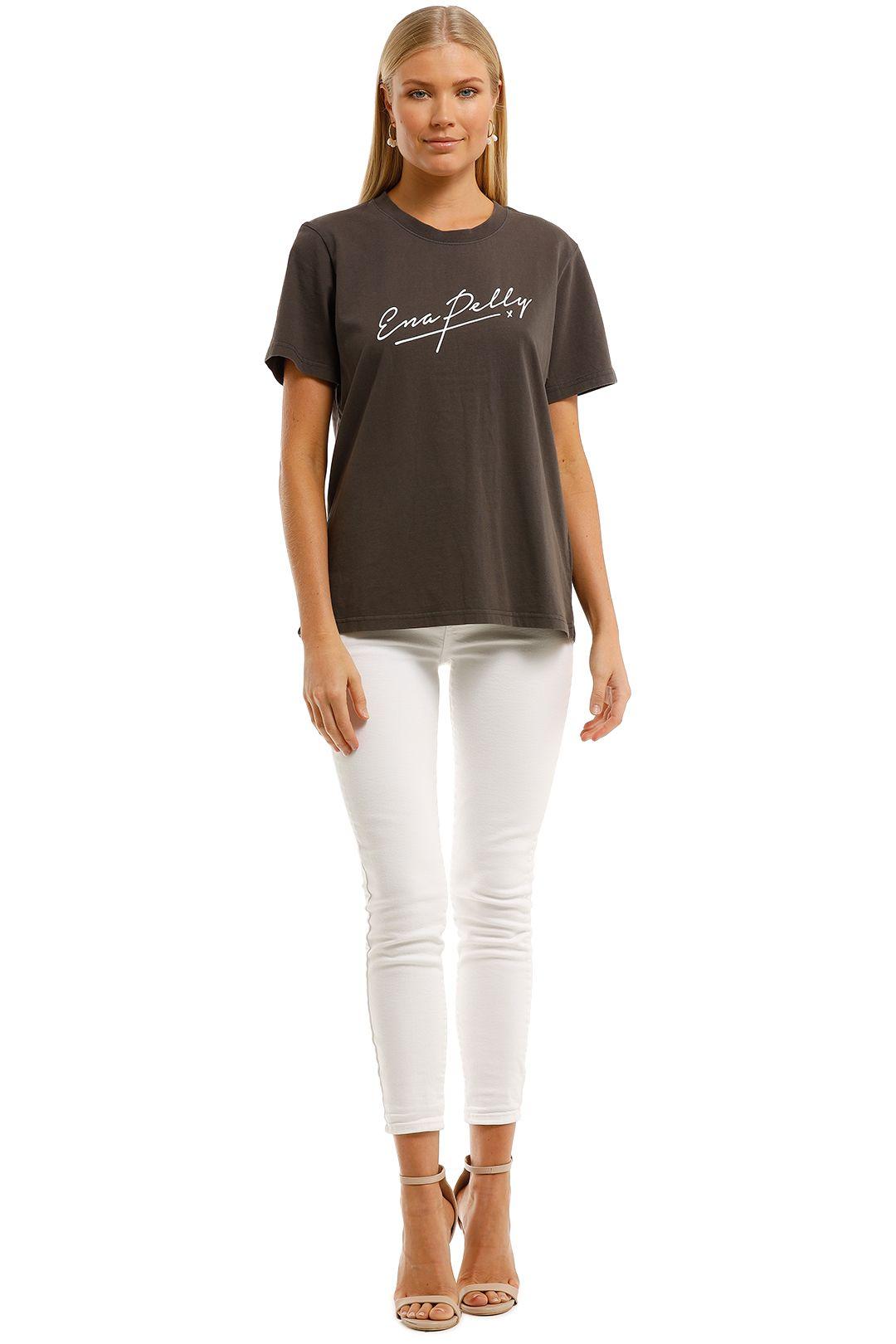 Ena-Pelly-Script-Logo-Tee-Faded-Black-Front