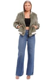 Ena Pelly Essential Faux Fur Bomber Jacket