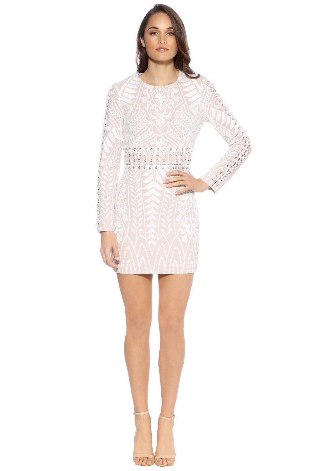 Enchanted Garden Dress - Blush White - Front