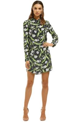 Equipment-Brett-Floral-Print-Washed-Silk-Mini-Shirt-Dress-Navy-Floral-Front