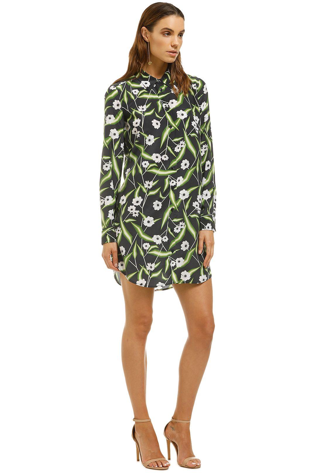 Equipment-Brett-Floral-Print-Washed-Silk-Mini-Shirt-Dress-Navy-Floral-Side