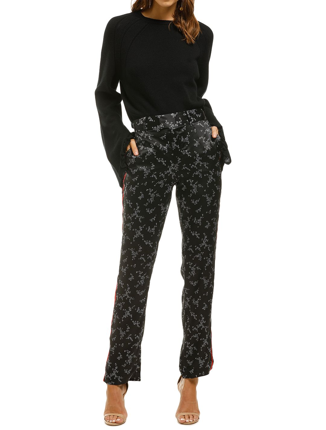 Equipment-Printed-Silk-Satin-Straight-Leg-Pant-Black-Floral-Front