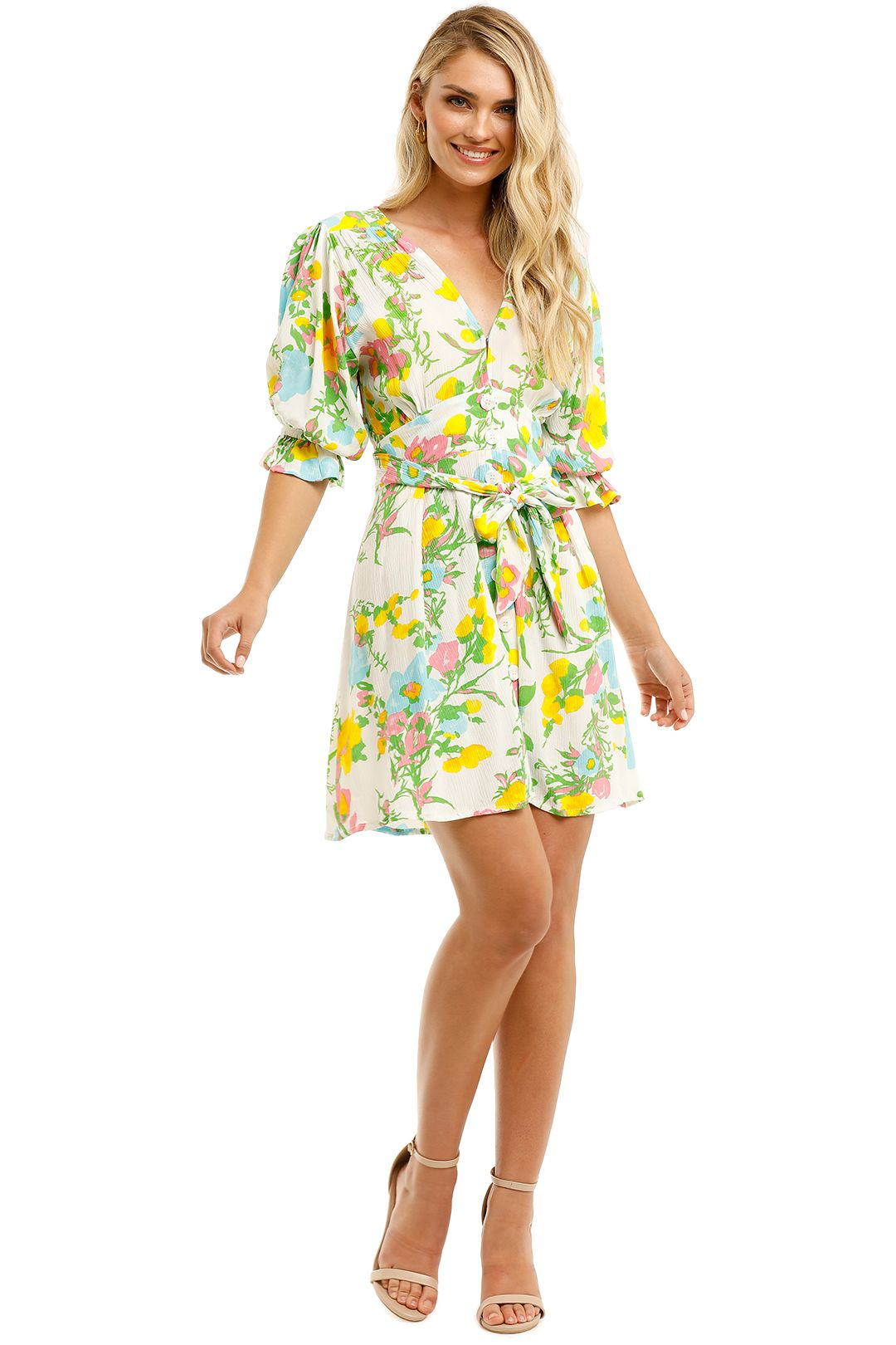Faithfull-Caliente-Mini-Dress-Ilona-Floral-Print-Front