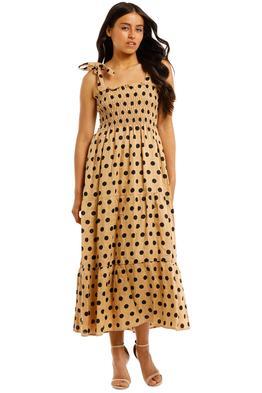Faithfull-Rianne-Midi-Dress-Emelda-Dot-Print-Front