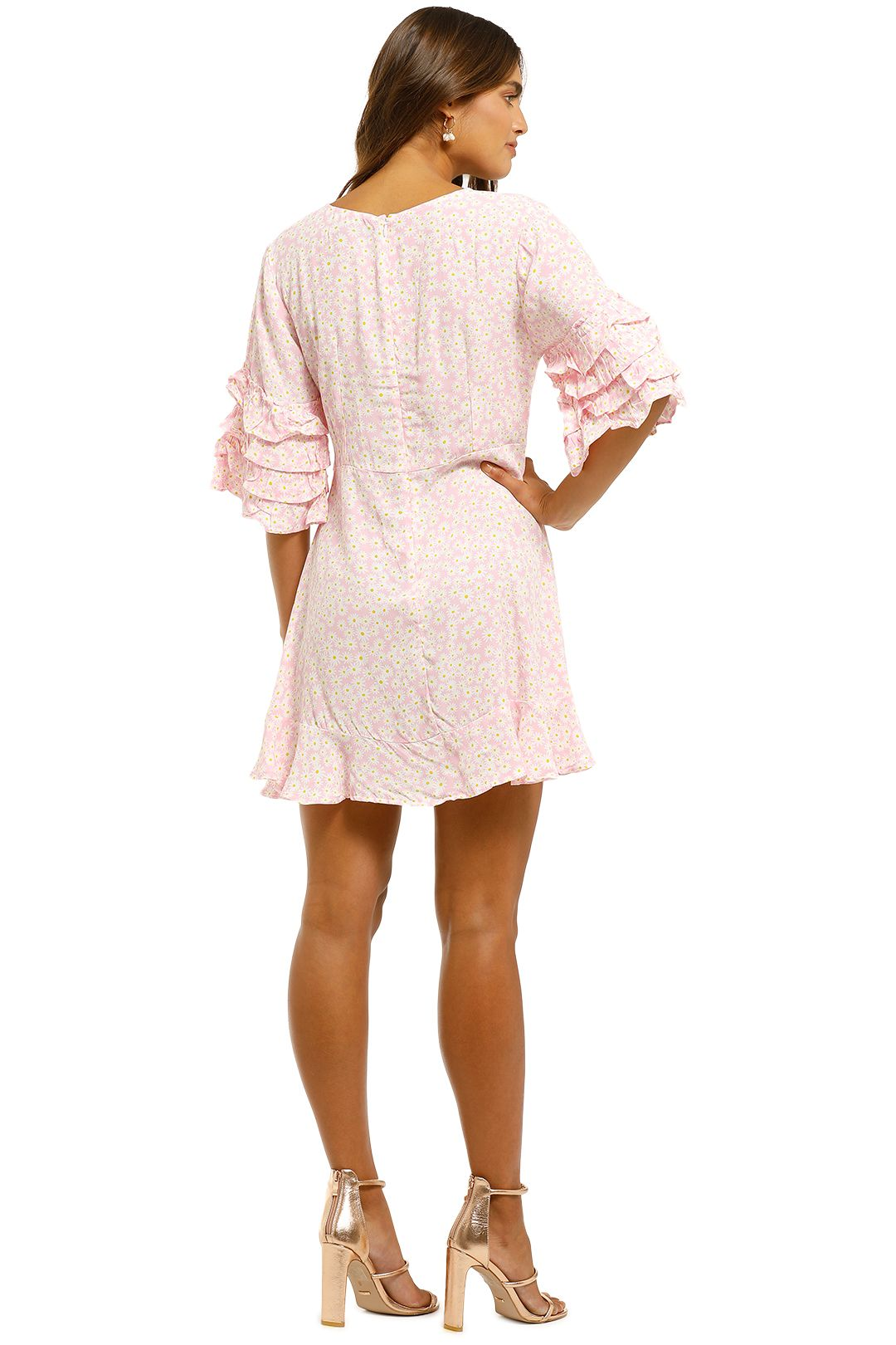 Faithfull-Serafina-Mini-Dress-Dusty-Floral-Print-Back