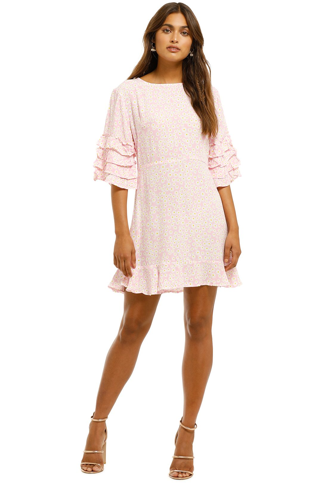Faithfull-Serafina-Mini-Dress-Dusty-Floral-Print-Front