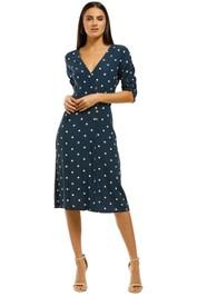 Faithfull - Anne Marie Midi Dress - Blue - Front