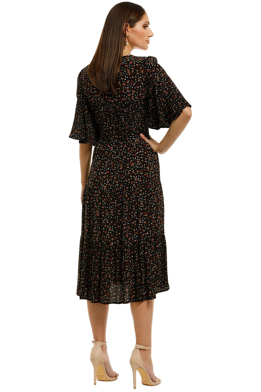 Faithfull - Melia Midi Dress - La Contrie Print - Back