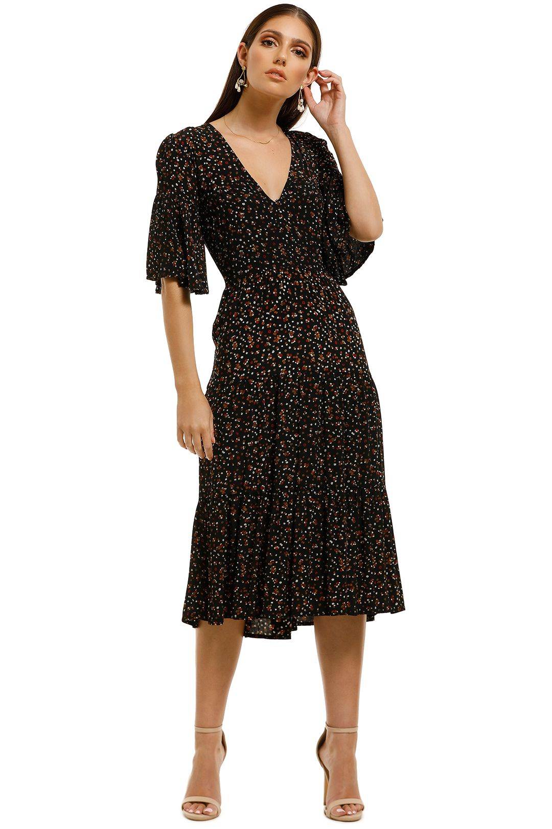 Faithfull - Melia Midi Dress - La Contrie Print - Front