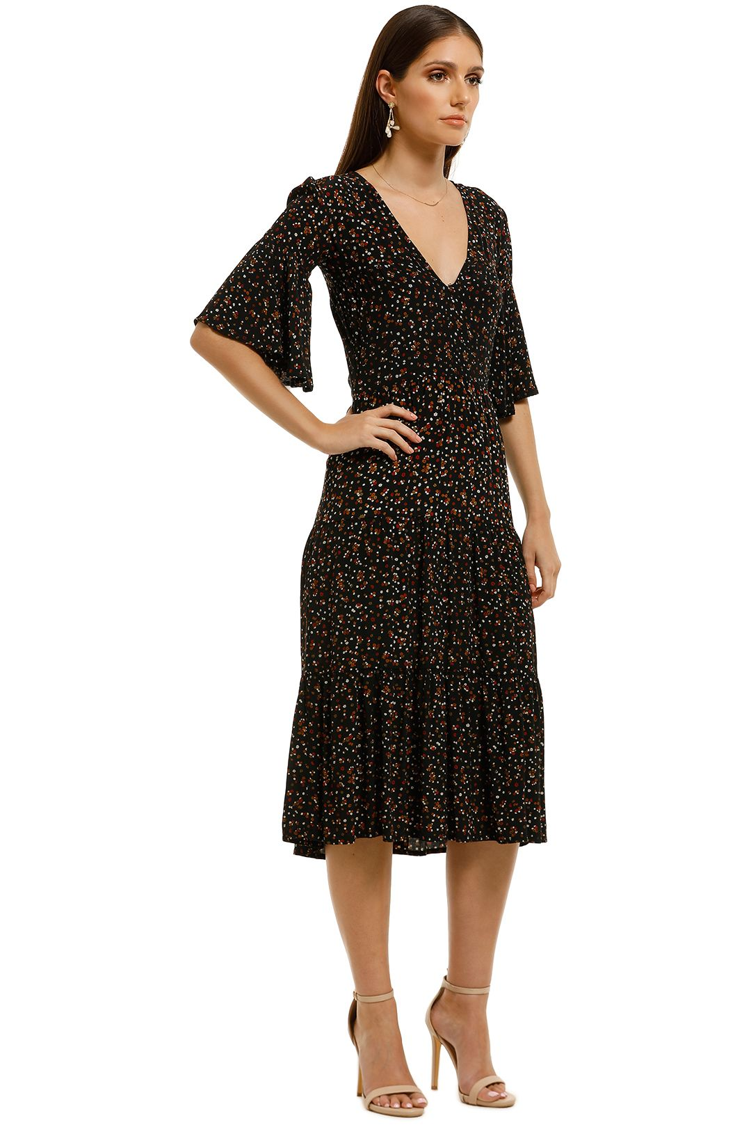 Faithfull - Melia Midi Dress - La Contrie Print - Side