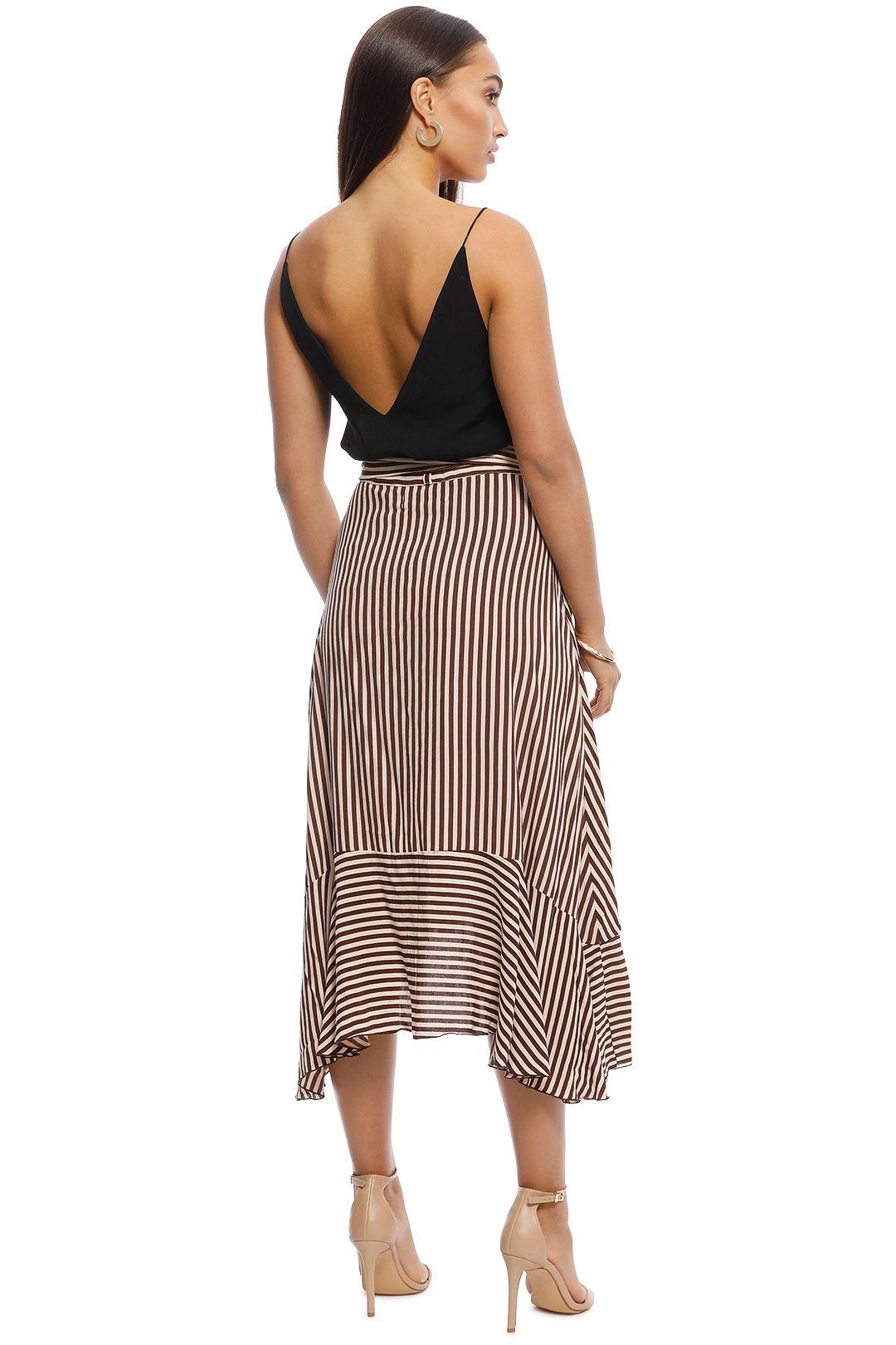 Faithfull - Tramonti Skirt - Georgia Stripe Espresso - Back
