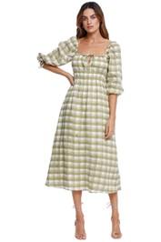 Faithfull Ayana Midi Dress 3/4 Sleeve