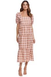Faithfull Aylah Midi Dress Lori Check print