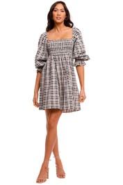 Faithfull Delano Check Mini Dress