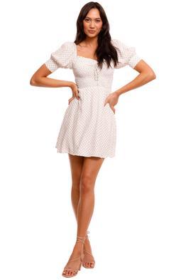 Faithfull Dulcia Mini Dress shirred