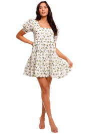 Faithfull Eldora Floral Print Mini Dress