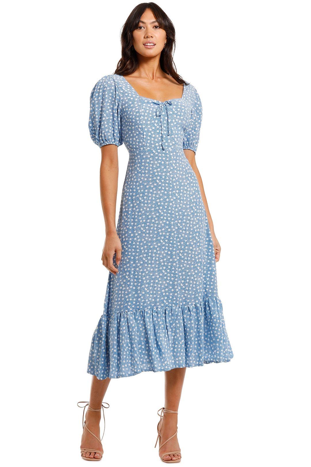 Faithfull Gabriela Midi Dress Shimma Blue