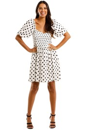 Faithfull Ilaria France Dot Mini Dress