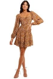 Faithfull Indira Paisley Mini Dress scoop