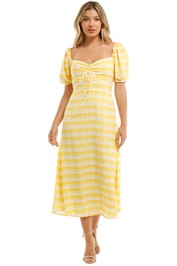 Faithfull Juniper Midi Dress Yellow Sweetheart