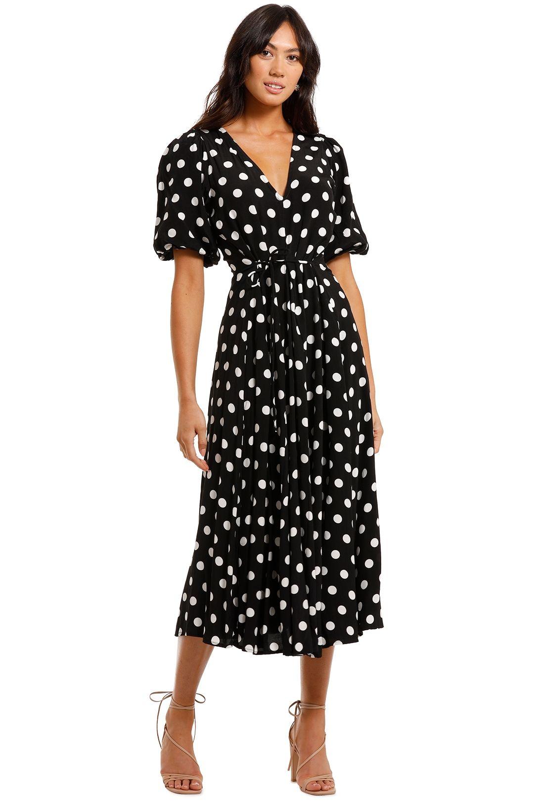 Faithfull La Torre Polka Midi Dress