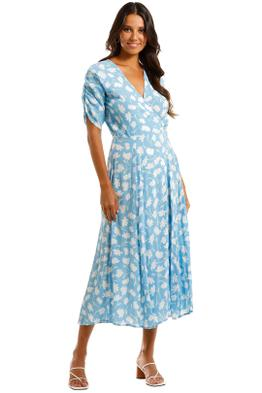 Faithfull Olinda Midi Dress Blue