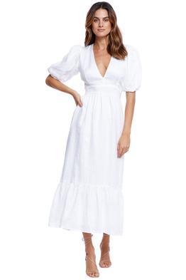 Faithfull Romilla Midi Dress white