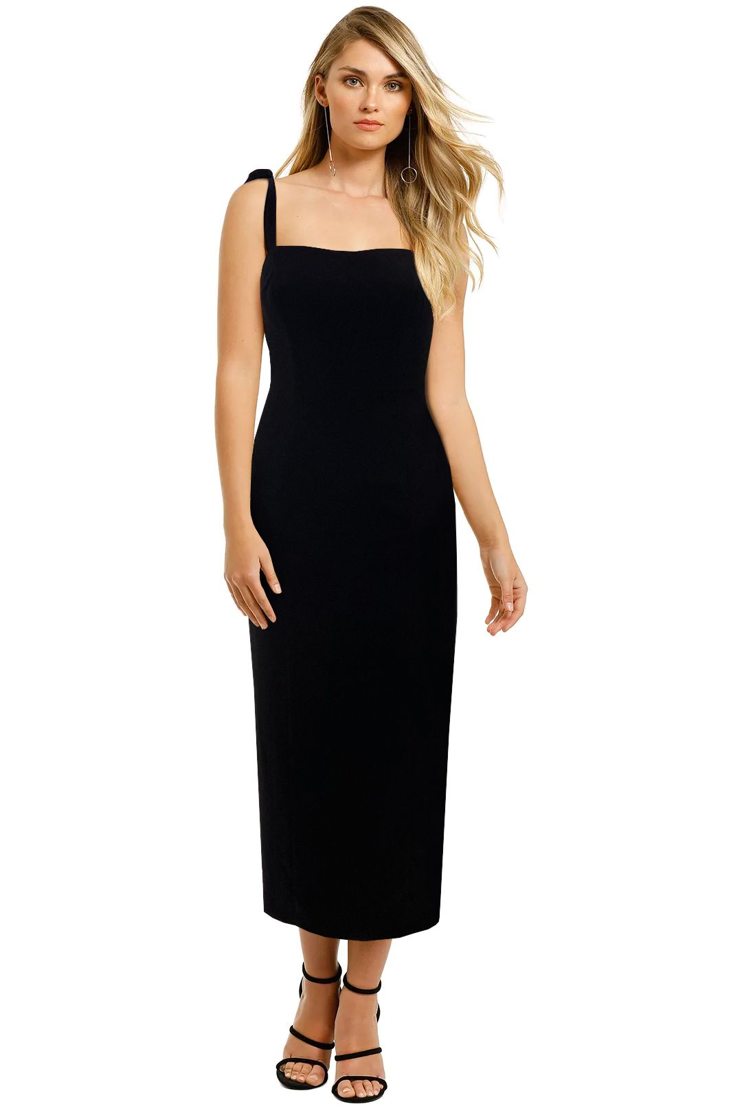 Fame-and-Partners-Black-Midi-Dress-Front