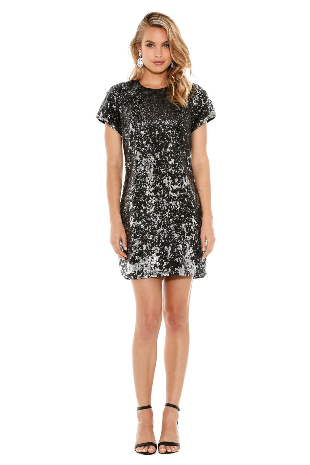 Fame And Partners - Bright Lights Dress - Silver - Front