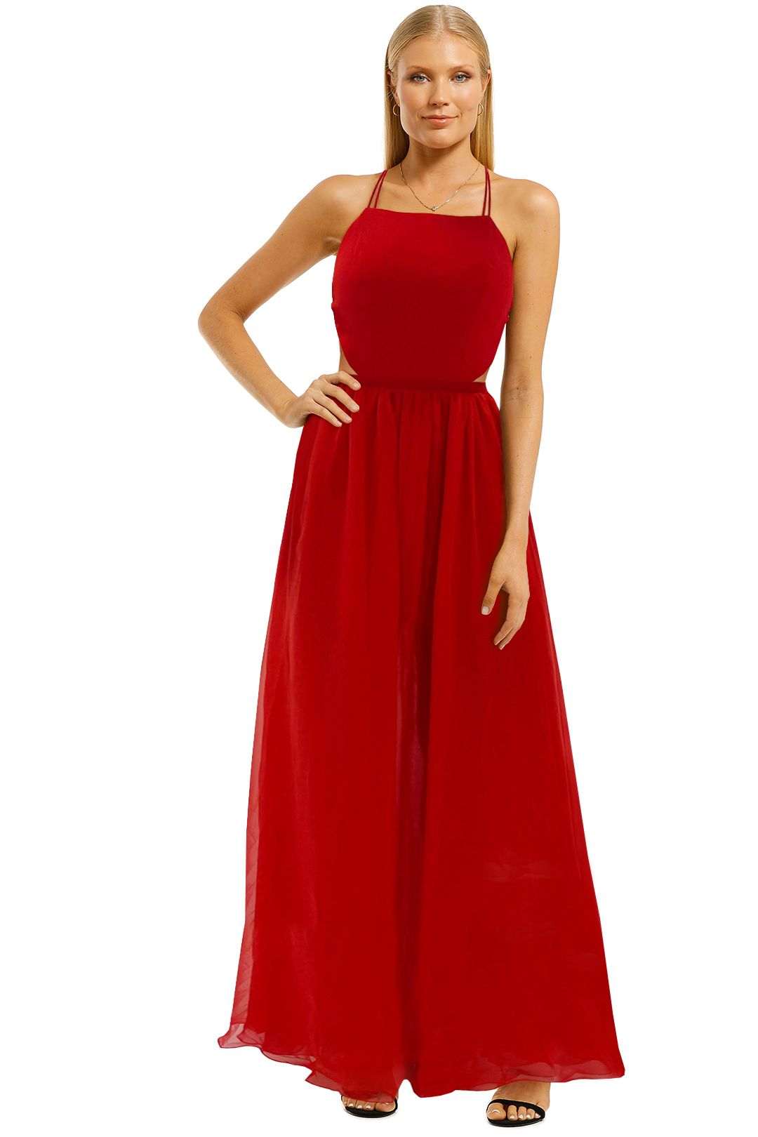 Fame-and-Partners-Mildred-Dress-Red-Maxi-Dress-Front