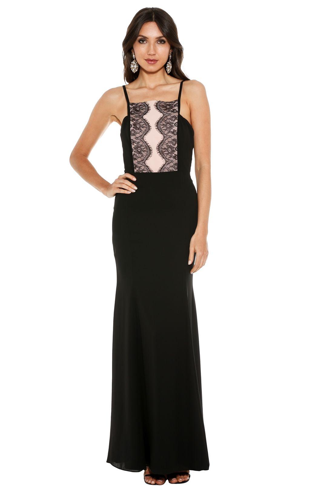 Fame & Partners - Megan Lace Dress - Black - Front