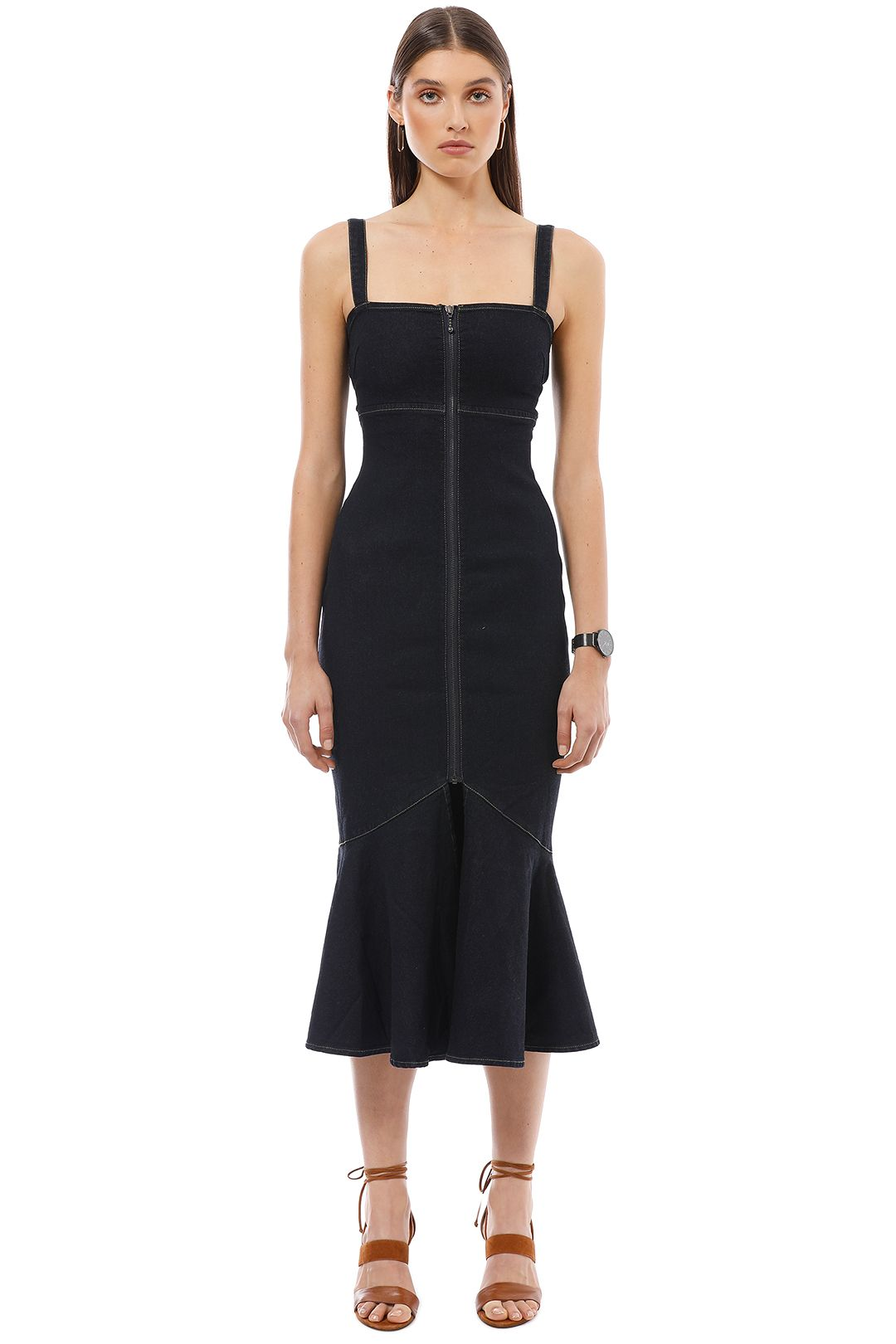 FInders Keepers - Ruby Dress - Navy - Front