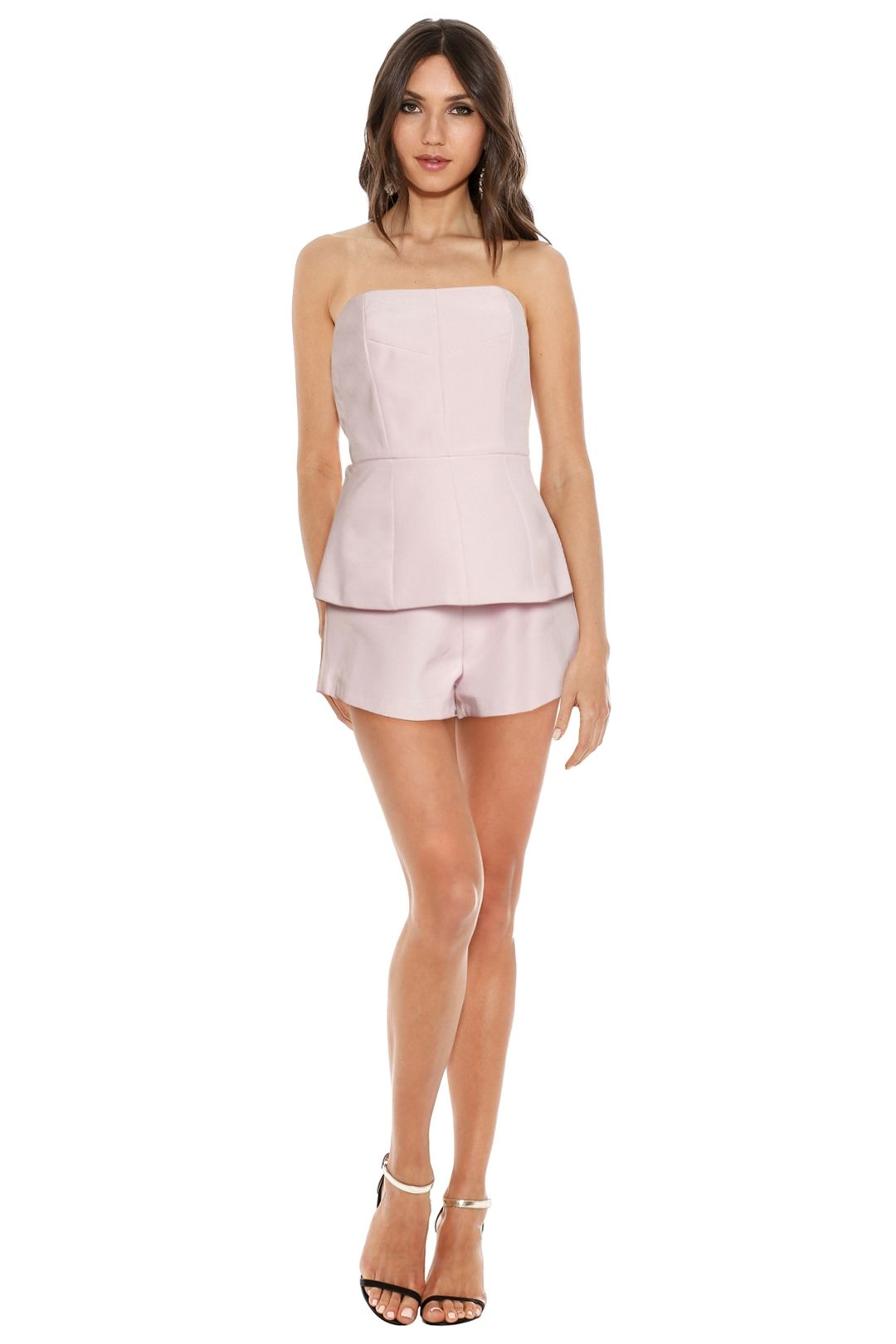 Finders Keepers - Sweet Darling Playsuit - Powder Pink - Front