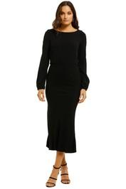 Flynn-Skye-Mabel-Midi-Dress-Black-Front