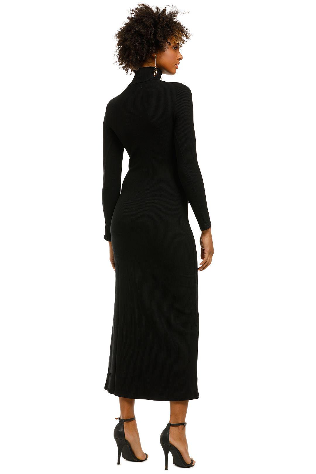 Flynn-Skye-Marie-Midi-Dress-Black-Ribbed-Back