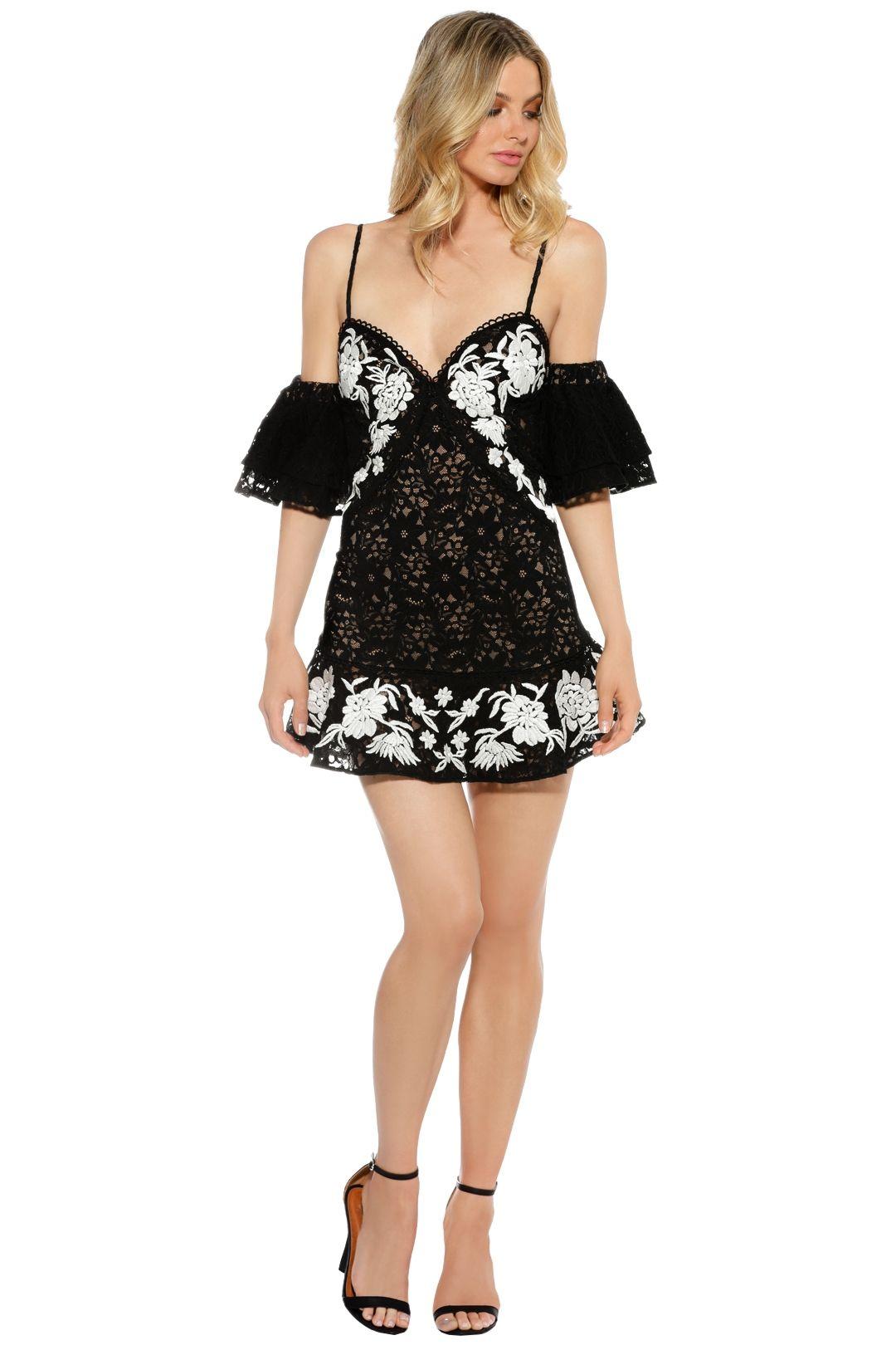 For Love and Lemons - Mallorca Tank Dress - Black - Front