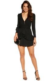For Love and Lemons - Vivi Party Dress - Black - Front