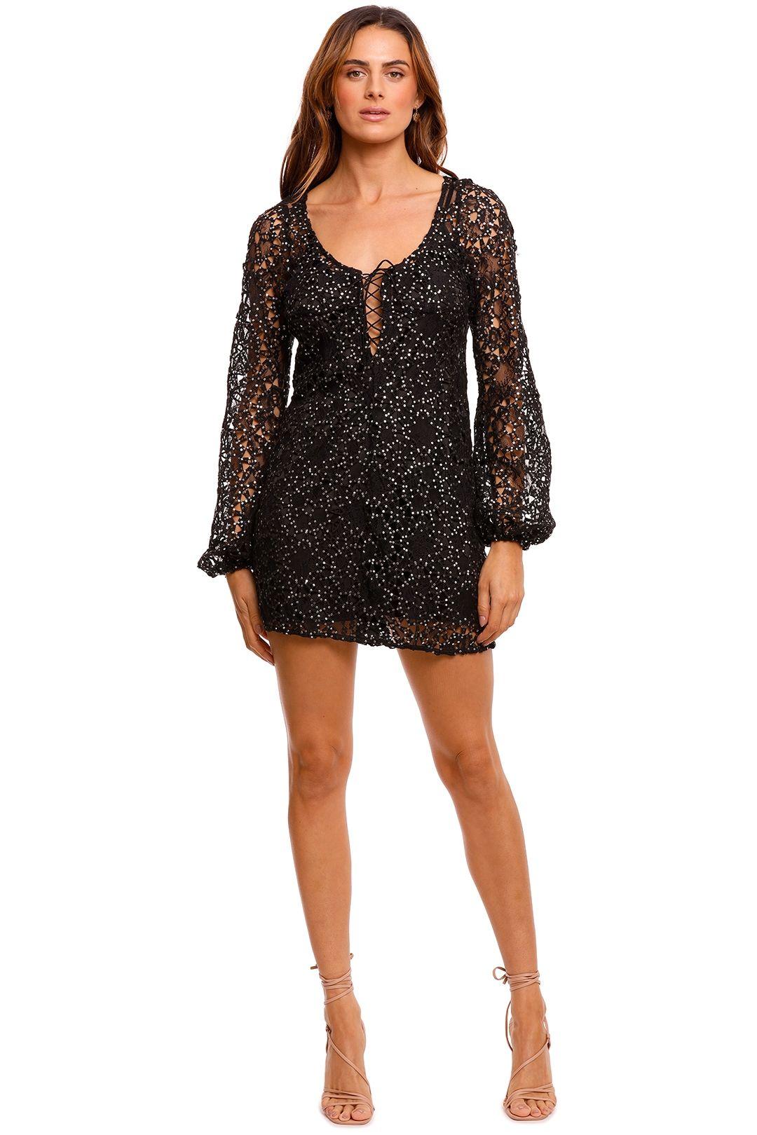 For Love and Lemons Clara Mini Dress black
