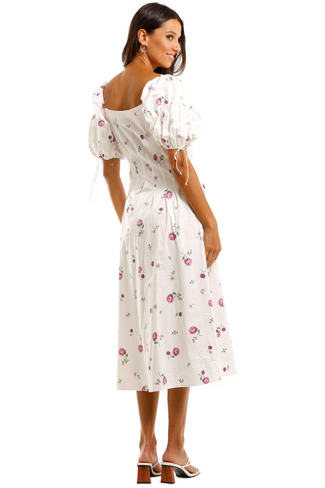 For Love and Lemons Violet Midi Dress White