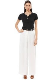 Friend of Audrey - Anya White Palazzo Pants - White - Front