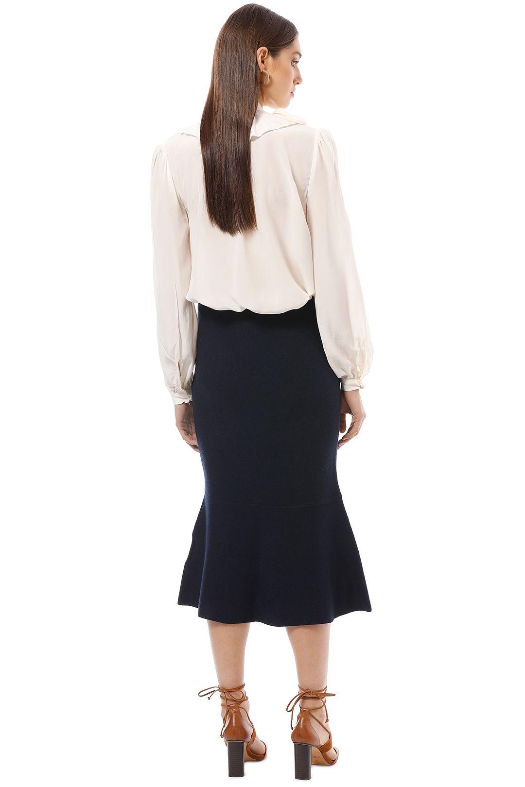 Friend of Audrey - Eleanor Midi Skirt - Navy - Back