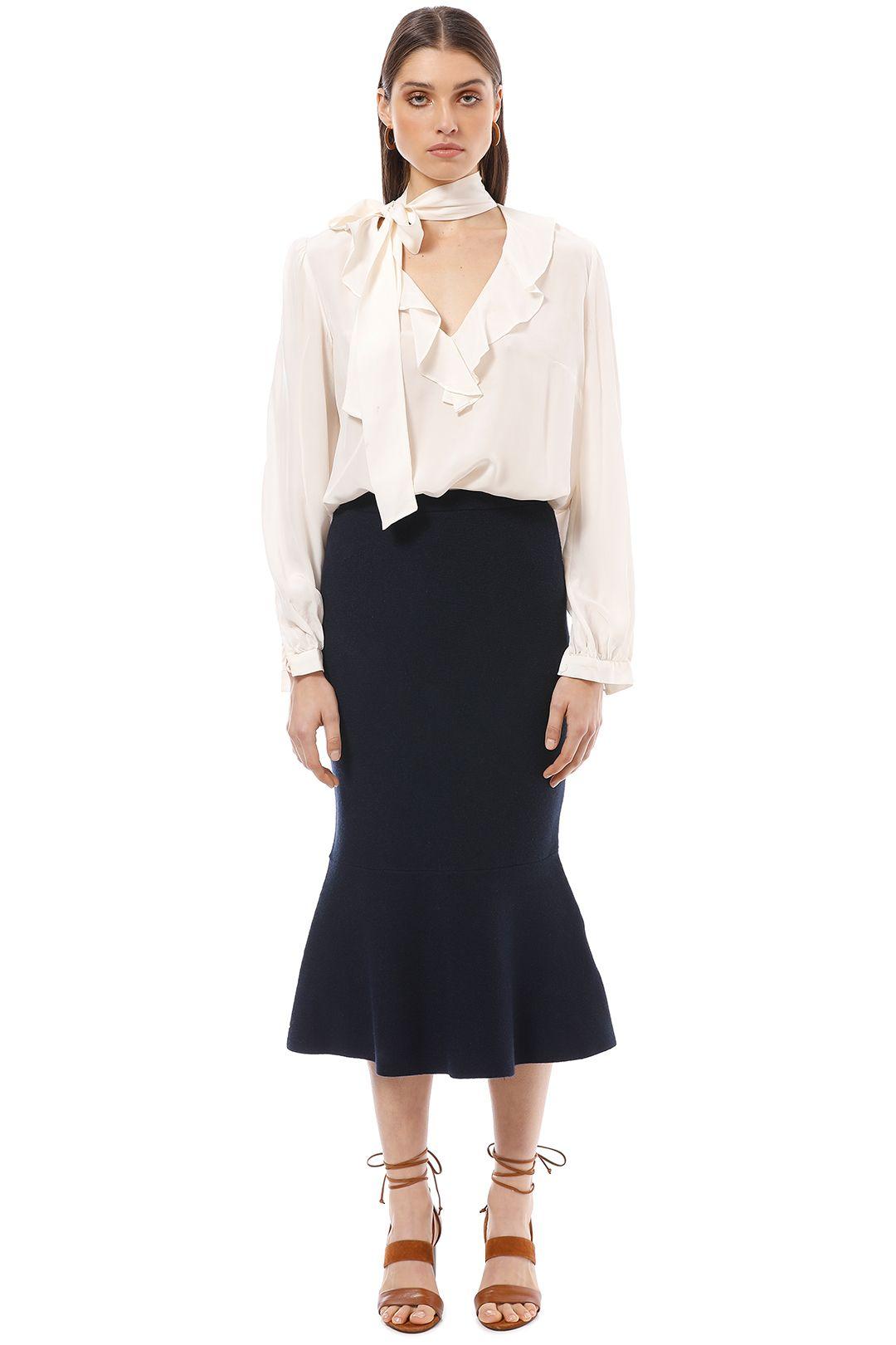 Friend of Audrey - Eleanor Midi Skirt - Navy - Front