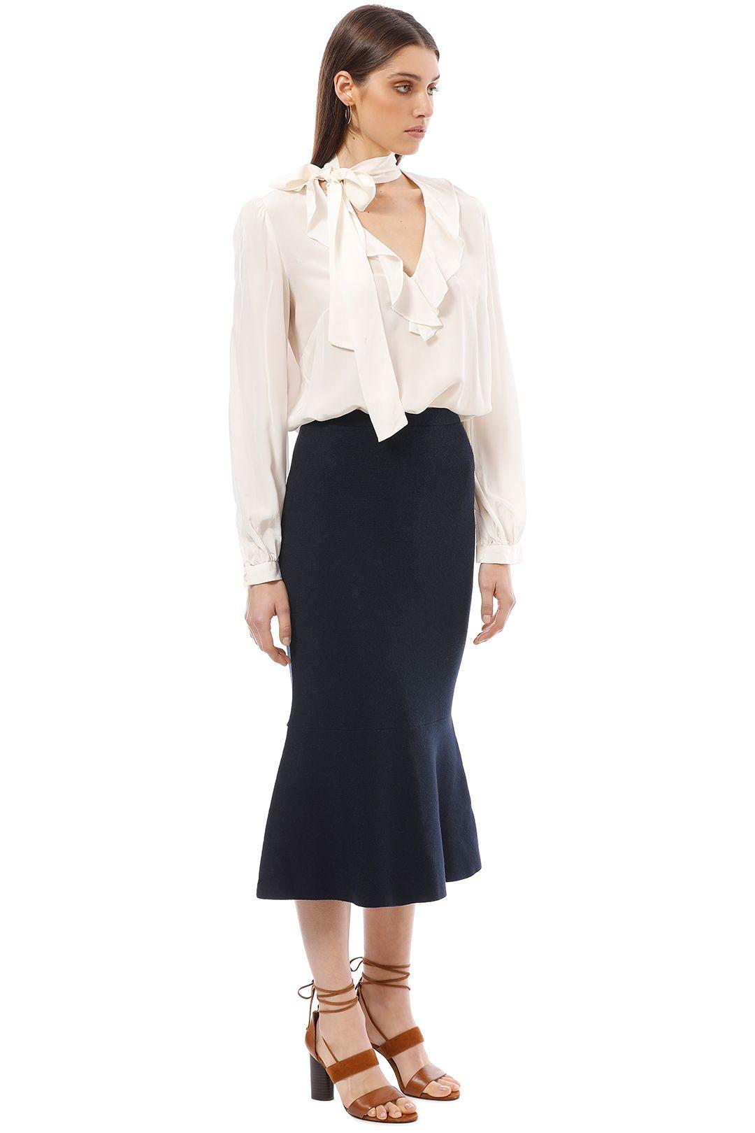 Friend of Audrey - Eleanor Midi Skirt - Navy - Side