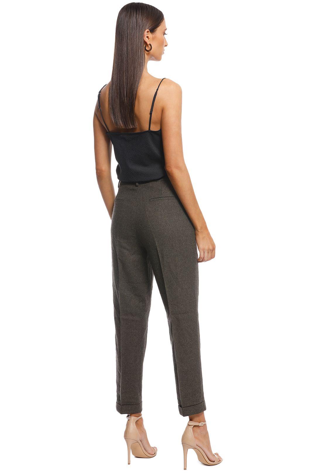 Friend of Audrey - Ellen Wool 7/8 Trousers - Khaki - Back