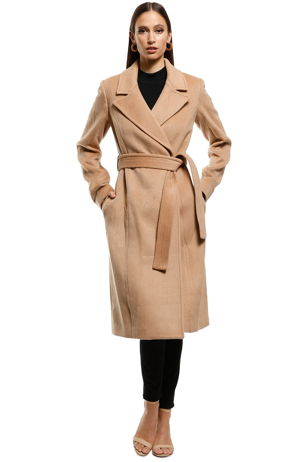 Paris Wool Camel Coat by Friend of Audrey for Rent | GlamCorner
