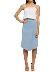 FWRD-The-Label-Alena-Crepe-Knit-Skirt-Opal-Front