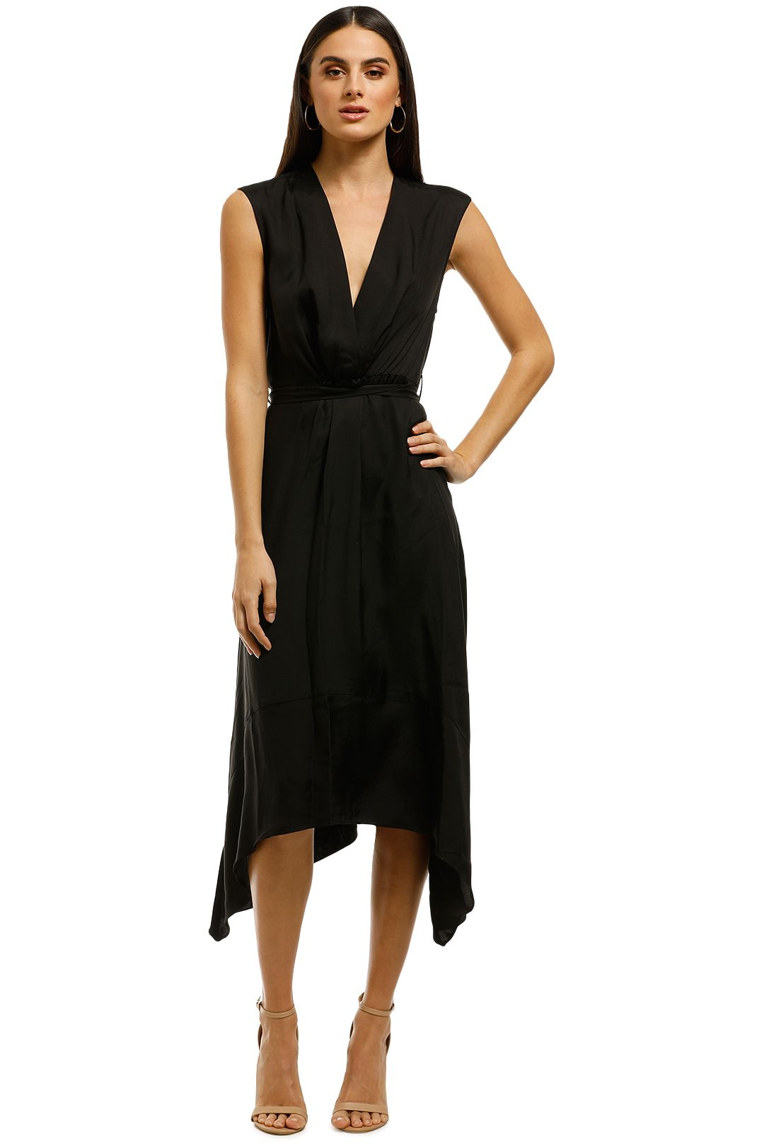 FWRD-The-Label-Leah-Dress-Black-Front
