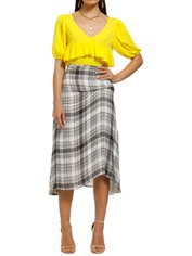 FWRD-The-Label-Rafi-Skirt-Spring-Plaid-Front