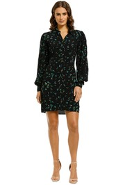 Ganni-Bluebell-Printed-Shirt-Dress-Front
