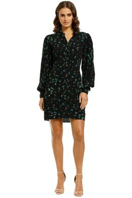 Ganni-Bluebell-Printed-Shirt-Dress-Front
